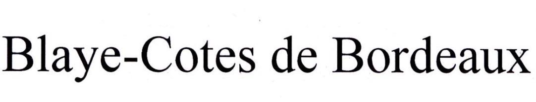 BLAYE-COTES DE BORDEAUX